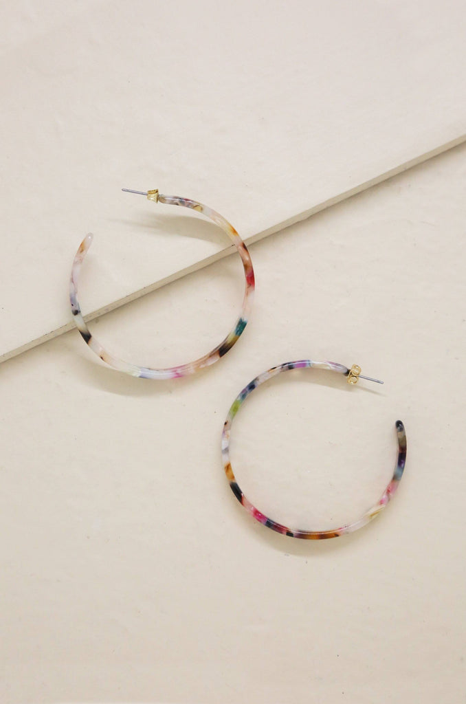 I Want Candy Rainbow Resin Hoops