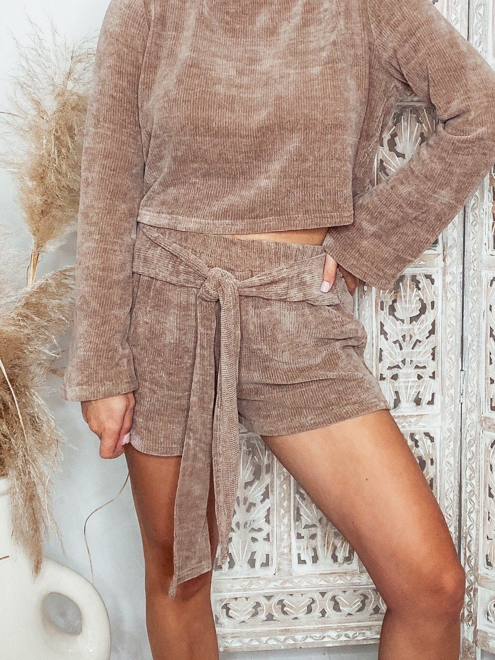 Match Made In Heaven Shorts - Taupe Shorts Dakotas Boutique:Trendy Women's Fashion Boutique