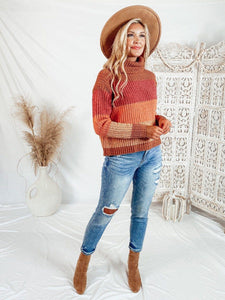 Riley Orange Stripe Sweater Sweaters Dreamers
