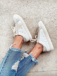 Denise White Star Lowtop Sneaker Shoes MIIM