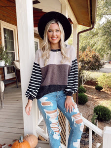 Park City Stripe Black Sweater Process Entrousa