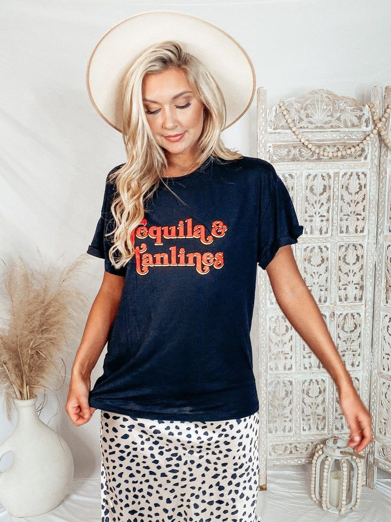 Tequila & Tanlines Tee Graphic Tees Zutter