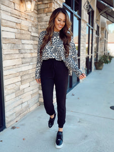 Leopard Taupe Top