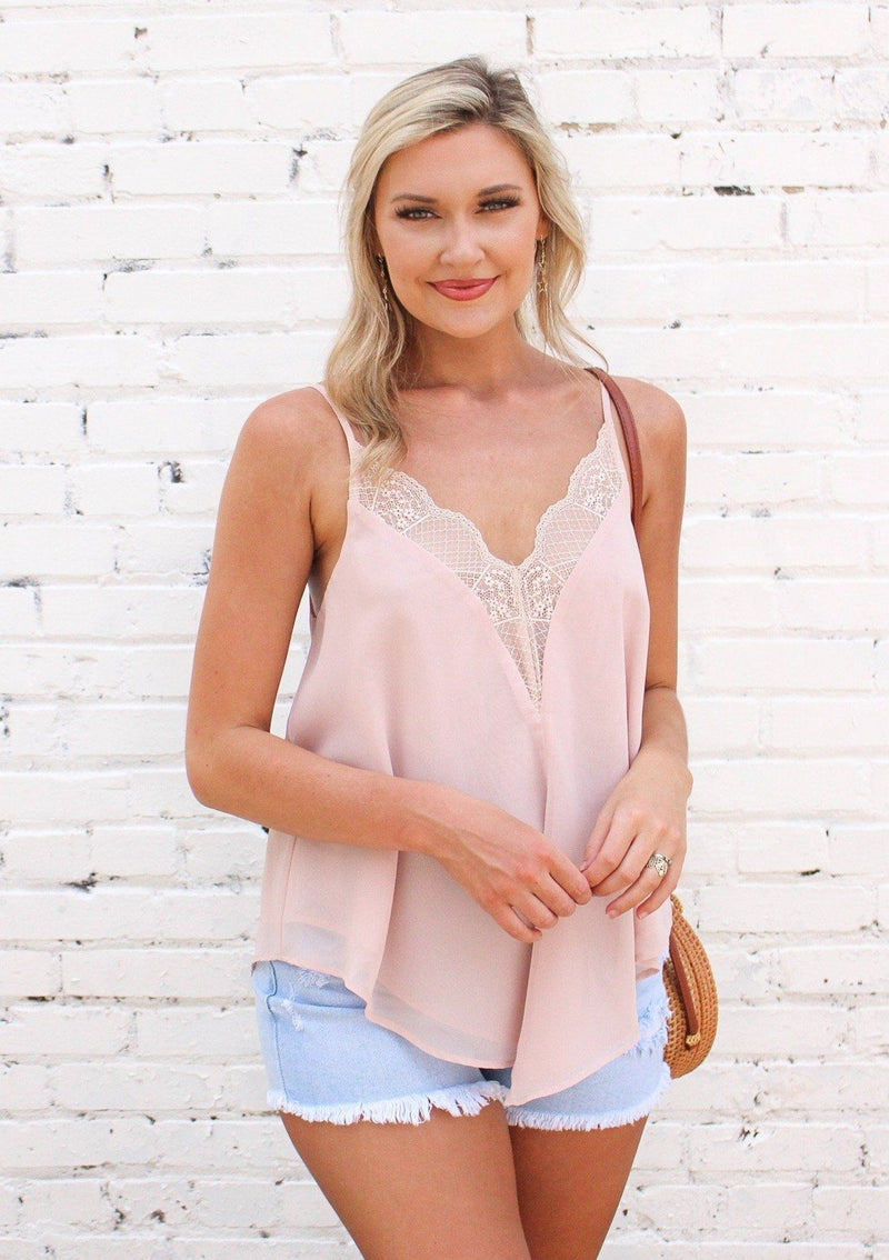 Lace Me Up Blush Cami Tops Wishlist