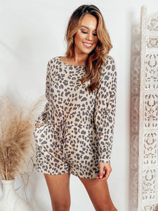 Highland Leopard Long Sleeve Romper Process LE LIS