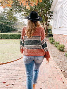 Harvest Green Stripe Sweater Sweaters EE:some