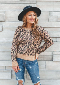 Chasin That Feeling Leopard Sweater Sweaters Hem and Thread