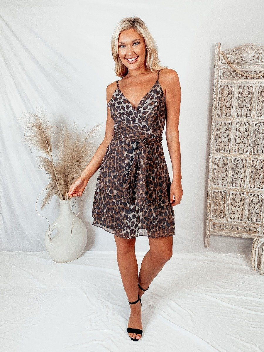 Not Your Basic Leopard Dress Dresses Do + Be