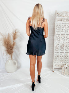 All In Love Slip Dress - Black Dresses cotton candy