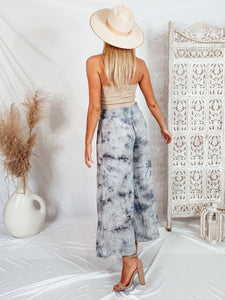 Dynamite Grey Tie Dye Wide Pants Pants Final Touch
