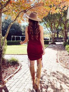 Taylor Ribbed Burgundy Dress Dresses Illa Illa