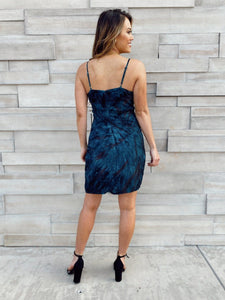 Crystal Navy Tie Dye Dress Dresses Olivaceous