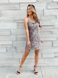 Falling Snakeskin Dress Dresses Olivaceous