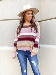 I'll Ask You Stripe Sweater Sweaters Hem and Thread