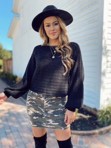 Tahila Black Sweater Sweaters Cotton Candy