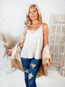 Sweet Sunshine Cream Tank Top Tops Blu Pepper