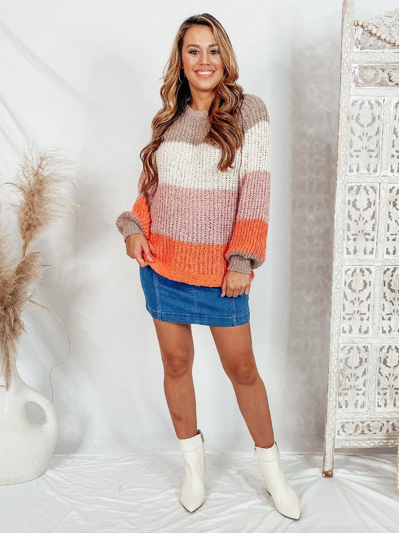 Cozy Color Block Sweater Sweaters Newbury Kustom