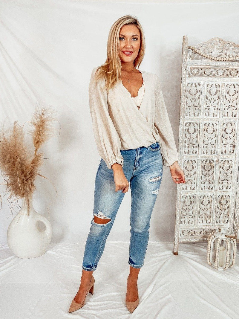 Simple Boho Beige Top Tops Style Rack