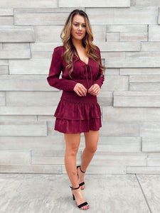 Babes in Burgundy Smocking Dress Dresses LE LIS