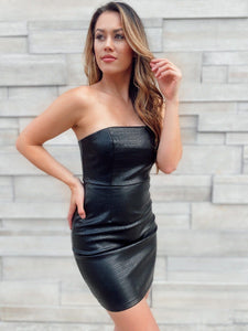 NYC Nights Faux Leather Dress Dresses Style Rack