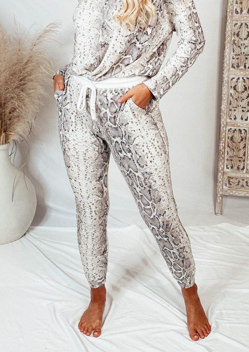 Bindi Snakeskin Joggers Bottoms Cherish