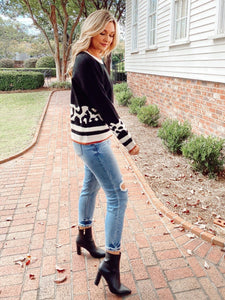 Touch of Leopard Sweater Sweaters Hem and Thread