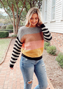 Show Me Color Block Sweater Sweaters Hem and Thread