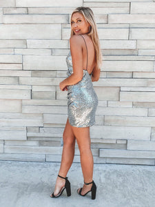 Time To Sparkle Dress - Silver POS Lush