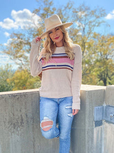 Sabrina Stripe Sweater Sweaters Hem and Thread