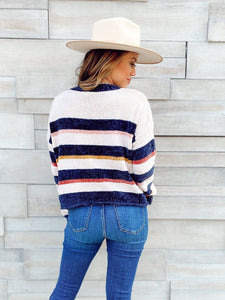 Just Hanging Around Stripe Sweater Sweaters Hem and Thread