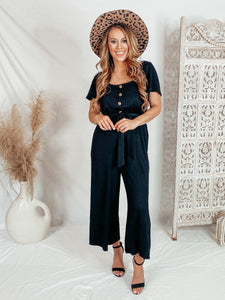 Flare Fun Jumpsuit - Black Jumpsuits Lush