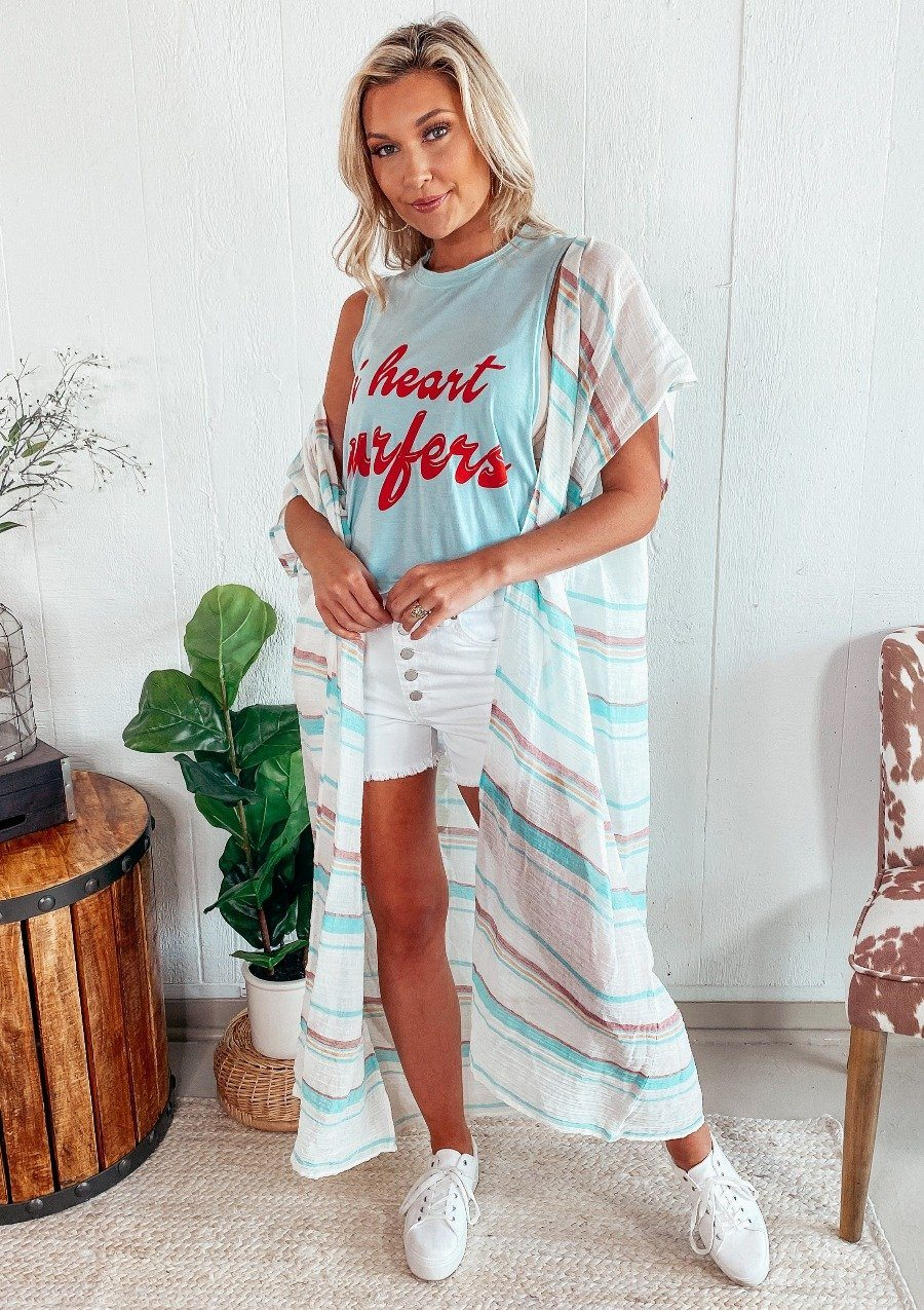 Stella Striped Kimono FINAL SALE Lovestitch