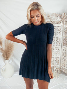 Home For The Holidays Sweater Dress POS Cotton Candy