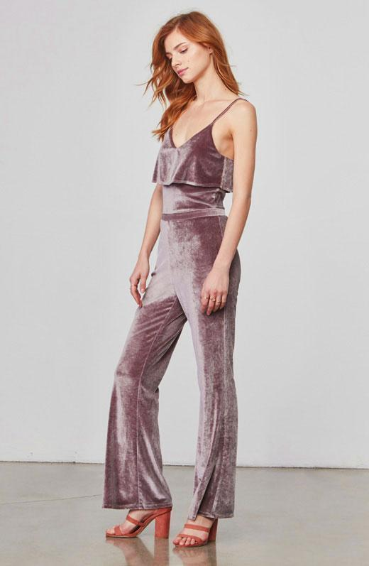 BB Dakota Bert Silver Jumpsuit