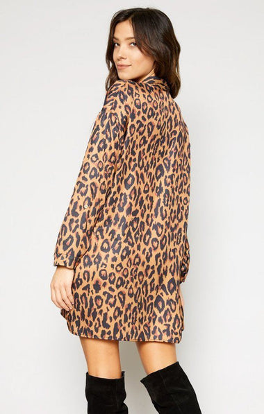 Luxe Leopard Shirt Dress