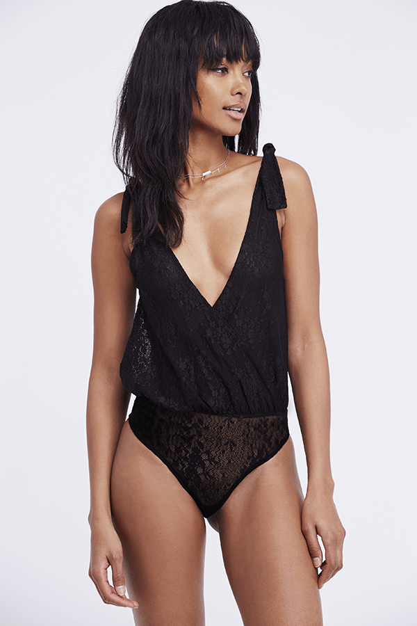 Free People Lace All Day Bodysuit