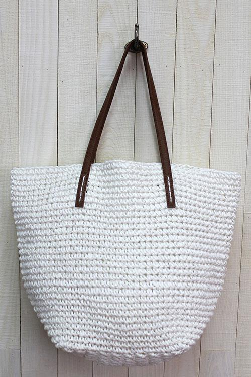 Raffia Bucket Natural Bag