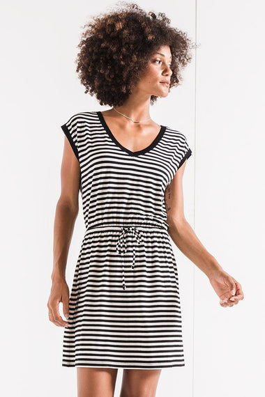 Z Supply Striped Shirred Dress Dresses Z supply