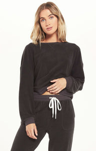 Z Supply Black Comfy Brushed Top Z Supply Z Supply