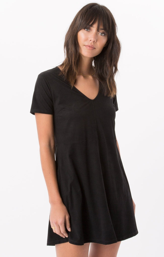 Z Supply Suede Black Dress