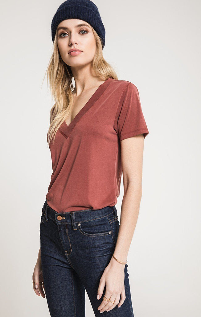 Z SUPPLY LUX MODAL DEEP V NECK