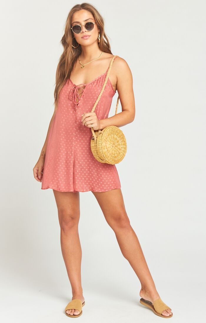 Show Me Your Mumu Rebel Romper Sangria Silky Dots