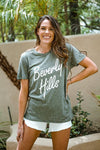 Beverly Hills 90210 Tee Tops Buddy Love Small Green