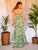 Magnolia Green Floral Maxi Dress