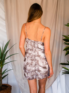 Need It Now Brown Tie Dye Dress