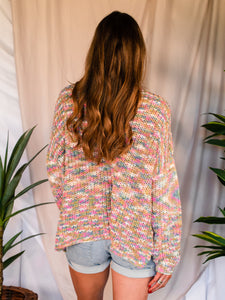 Oversized Rainbow Mix Sweater