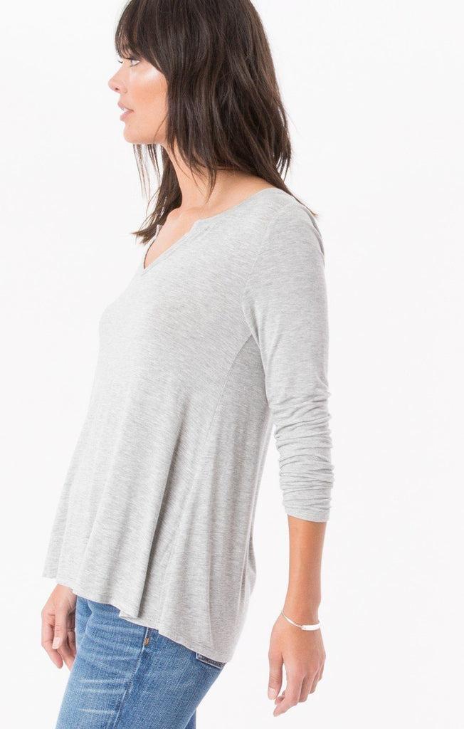 Z Supply Sleek Grey Jersey Long Sleeve