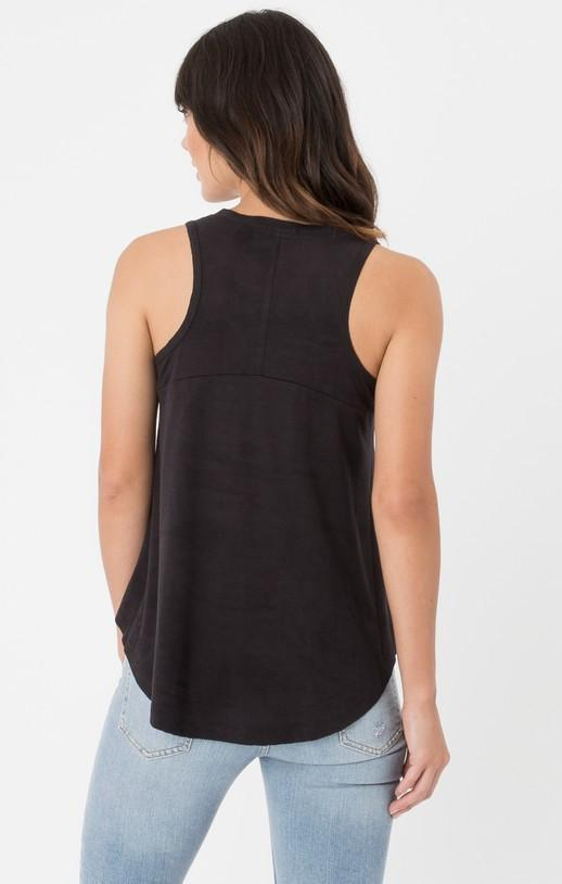 Z Supply Suede Swing Black Tank