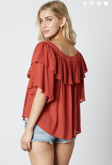 Callie Chili Top FINAL SALE Cotton Candy