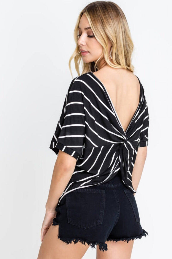 Striped Knot Top